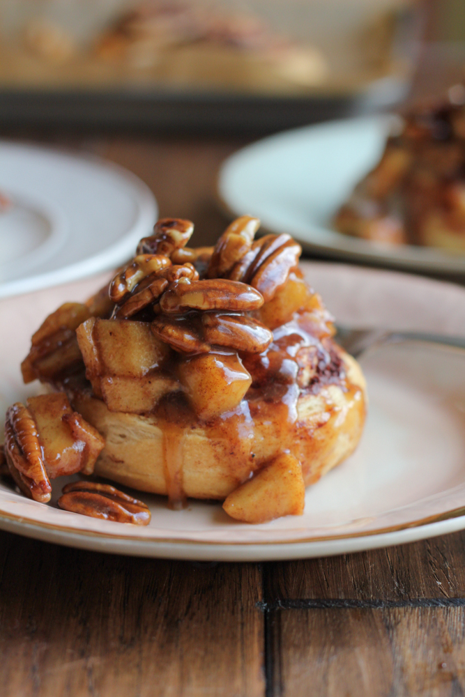 Apple Pecan Cinnamon Rolls