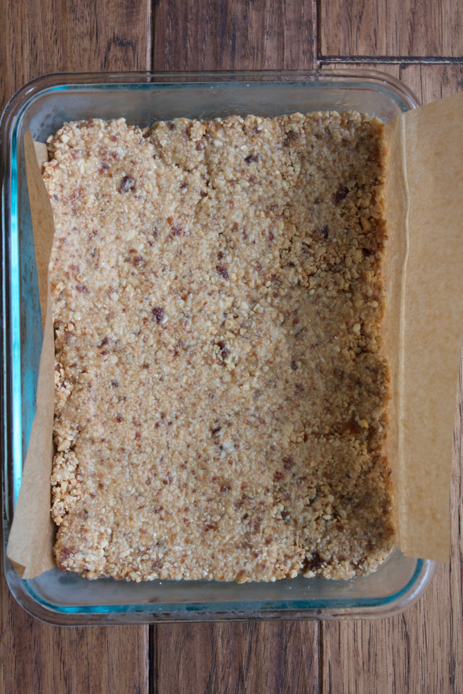 Vegan No Bake Toasted Coconut Bars!!! Made with coconut oil, shredded coconut, cashews, dates, coconut butter and more! These are no bake and delicious! Coconut lovers, you have to try these bars!