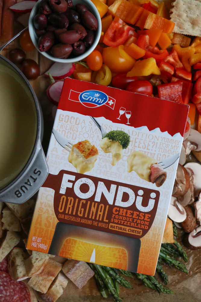 How to Host The Best Cheese Fondue Party with Emmi Fondu! The best cheese fondue from Switzerland! Mix it up with bites for the kids, roasted and raw veggies and more! There's something for everyone to enjoy!