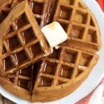Easy Weekend Waffles + A Video! Make these delicious weekend waffles for Mother's Day! Surprise mom with breakfast in bed and don't forget the fresh fruit and maple syrup!