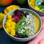 Delicious Mango Smoothie Bowl! A great way to start your morning!