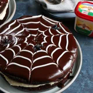 Double Chocolate Spider Web Cake + A Video!