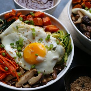 Fall Inspired Vegetarian Bibimbap
