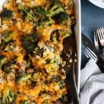 White Cheddar Broccoli Rice Casserole