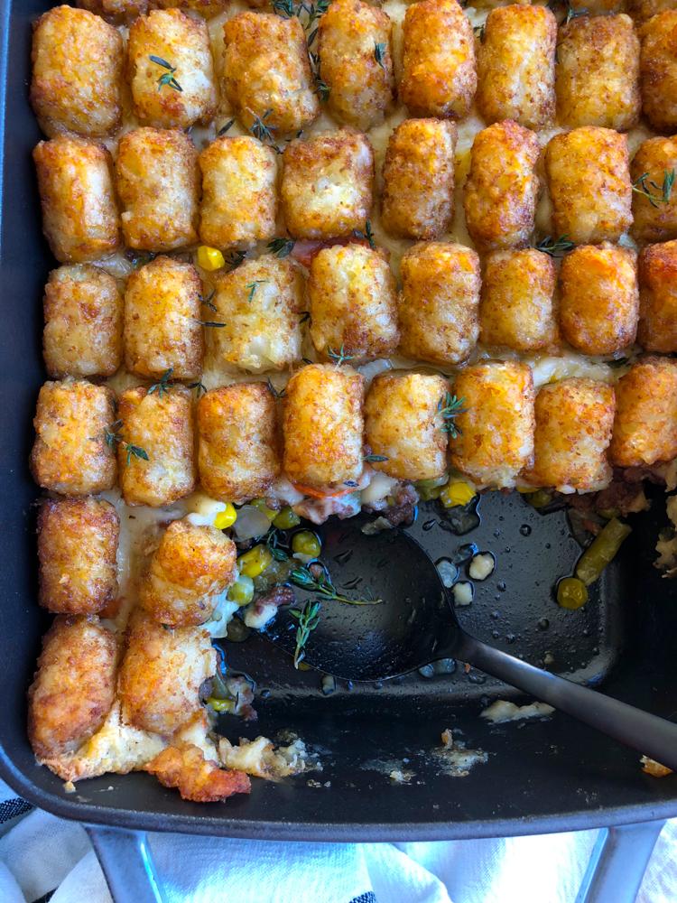 Hotdish Tater Tot Casserole Hip Foodie Mom