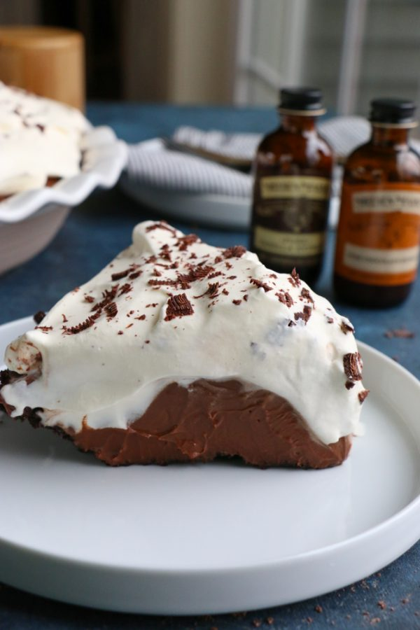 The Best Chocolate Cream Pie Ever! This recipes uses pure chocolate and vanilla extract which add that extra layer of richness, flavor and goodness! This pie is so good! I hope you try it!