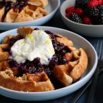 Spelt Waffles with Blueberry Compote + A Giveaway!