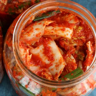 My Aunt's Kimchi. .  Vegan version too!