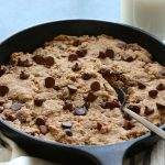 Paleo Chocolate Chip Skillet Cookie