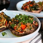 Vegetarian Stuffed Portobello Mushrooms
