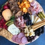 How to Build a Cheese and Charcuterie Board! Entertaining can be so easy simply by putting together a cheese and charcuterie platter. All you have to do is buy everything and assemble! There is no cooking involved!