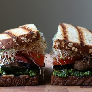 Grilled Veggie and Pesto Sandwich (VIDEO!)
