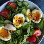 Simple Salad with Soft Boiled Eggs (VIDEO!)
