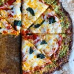 Zucchini Pizza Crust! Low carb and so delicious! You won't believe this is a Zucchini Pizza Crust! Read the entire recipe!
