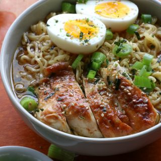 Instant Pot Chicken Ramen! Have homemade chicken ramen on your table in about 25 minutes! So flavorful and delicious!!