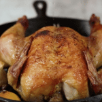 Perfect Roast Chicken. Super flavorful, just requiring a few ingredients. You won't believe how easy this is! This is something I believe every home cook should know how to make!