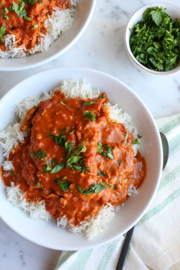 Instant Pot Butter Chicken! Butter chicken or murgh makhani is a dish, originating from Delhi, India, of chicken in a mildly spiced tomato sauce.