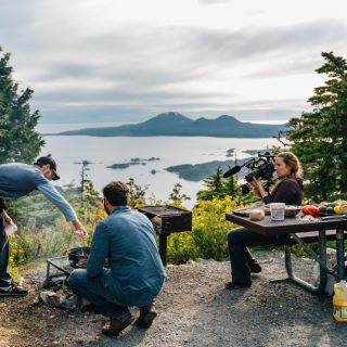 Dinner On A Mountain in Sitka Alaska. We cooked everything over open fire. Maybe one of the best experiences of my life! I will never forget this!